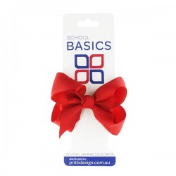 Red Small Shilo Bow on Elastic - 10 per pack