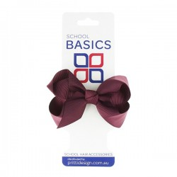 Maroon Small Shilo Bow on Elastic - 10 per pack