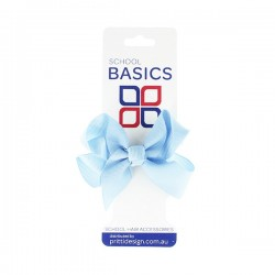 Light Blue Small Shilo Bow on Elastic - 10 per pack
