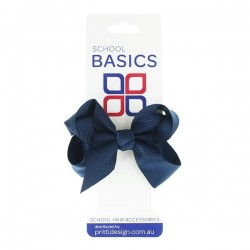 Navy Small Shilo Bow on Elastic - 10 per pack