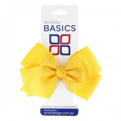 Gold Large Jani Bow on Clip - 10 per pack