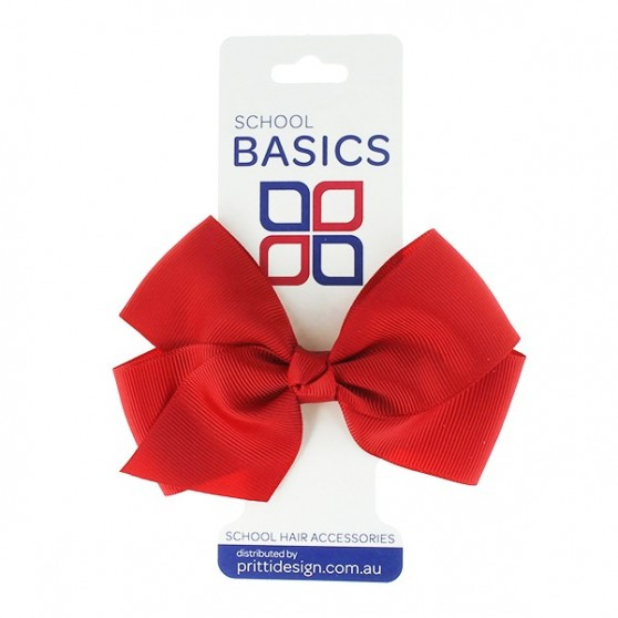 Red Large Jani Bow on Clip - 10 per pack