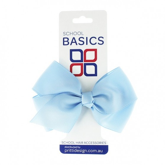 Light Blue Large Jani Bow on Clip - 10 per pack