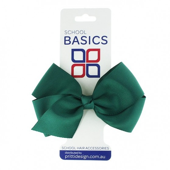 Bottle Green Large Jani Bow on Clip - 10 per pack