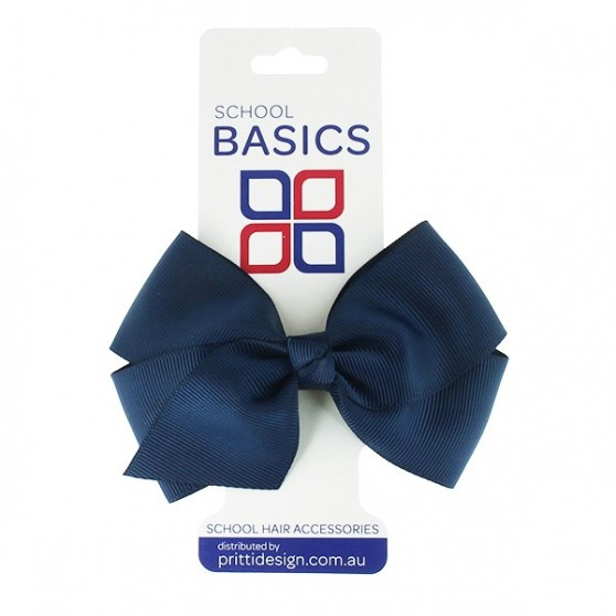 Navy Blue Large Jani Bow on Clip - 10 per pack