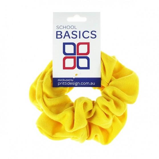 Gold scrunchies large 2 piece- 10 per pack