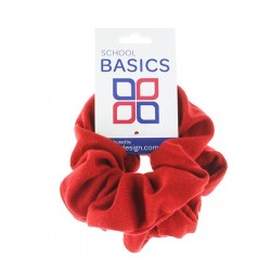 Red Basic Scrunchies Large 2 Piece - 10 per pack
