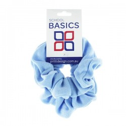 Light Blue Basic Scrunchies Large 2 Piece - 10 per pack
