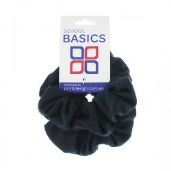 Navy Basic Scrunchies Large 2 Piece - 10 per pack
