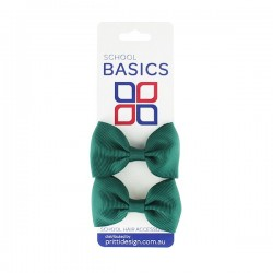 Red Basic Grosgrain Bows on Elastic, Pair - 10 per pack