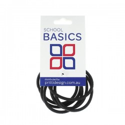 Black Snag Free Basic Elastics 8 piece - 10 per pack