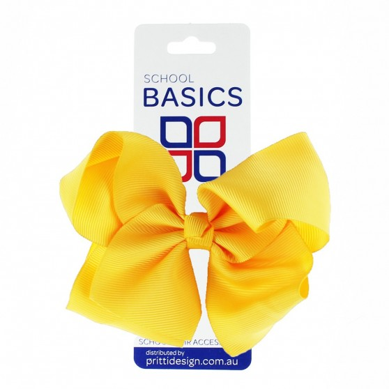 Gold XLarge Shilo Bow on Clip - 10 per pack