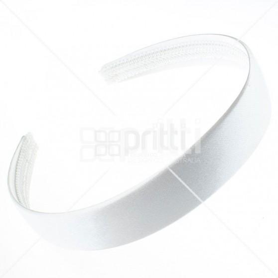 White Satin Hairband - 10 per pack