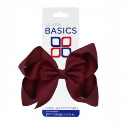 Maroon Large Shilo Bow on Elastic - 10 per pack