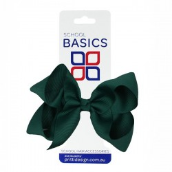 Bottle Green Large Shilo Bow on Elastic - 10 per pack