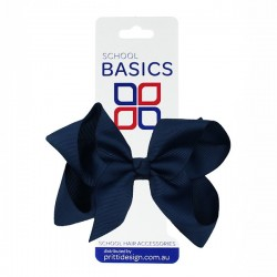 Navy Blue Large Shilo Bow on Elastic - 10 per pack