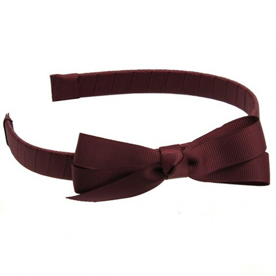 Wine Hairband with Jani Bow - 10 per pack