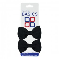 Midnight Basic Grosgrain Bows on Elastic, Pair - 10 per pack