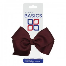 Wine Large Jani Bow on Clip - 10 per pack