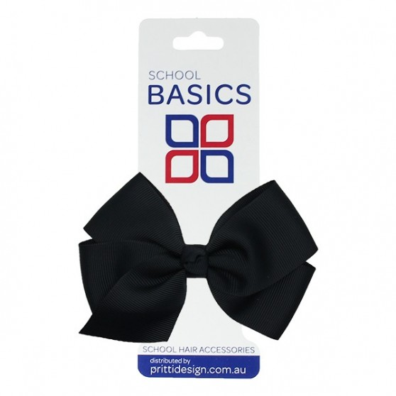 Midnight Blue Large Jani Bow on Clip - 10 per pack