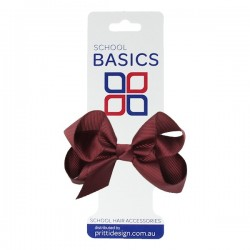 Wine Small Shilo Bow on Elastic - 10 per pack