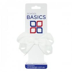 White Small Shilo Bow on Elastic - 10 per pack