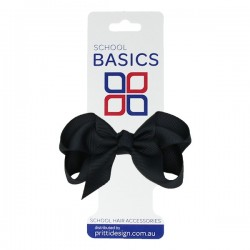 Midnight Small Shilo Bow on Elastic - 10 per pack