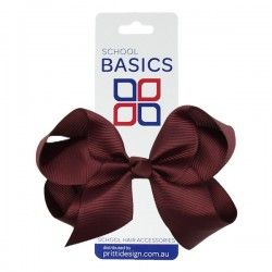 Wine Large Shilo Bow on Elastic - 10 per pack