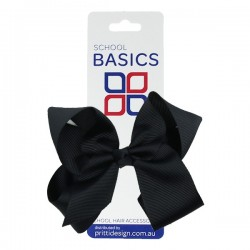 Midnight Blue Large Shilo Bow on Elastic - 10 per pack