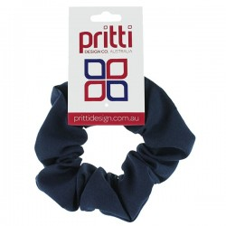 Midnight Large Fabric Scrunchies - 10 per pack