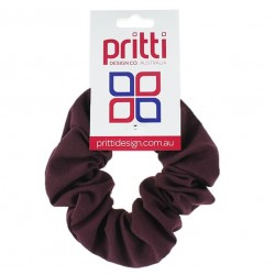 Wine Large Fabric Scrunchies - 10 per pack
