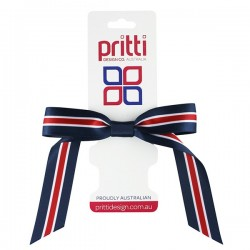 Navy / White / Red Pony-Bow® - 10 per pack
