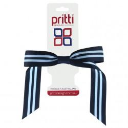 Dark Navy / Bluebird Pony-Bow® - 10 per pack