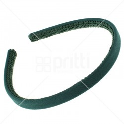 Bottle Green Alice Narrow Hairband - 10 per pack