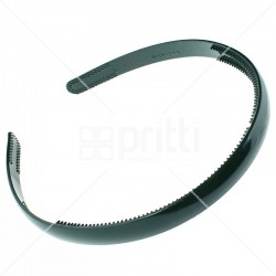 Bottle Green Plastic Narrow Hairband - 10 per pack