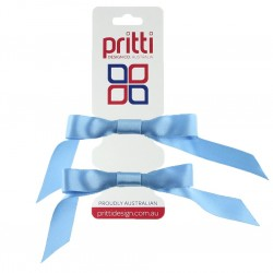 Bluebird Satin Pigtail Bows - 10 per pack
