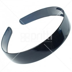 Navy Blue Plastic Wide Hairband - 10 per pack