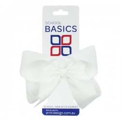 White Large Shilo Bow on Elastic - 10 per pack