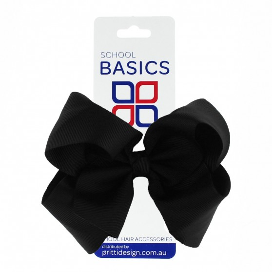 Navy Blue XLarge Shilo Bow on Clip - 10 per pack
