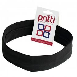 Black Medium Cotton Lycra Headband - 10 per pack