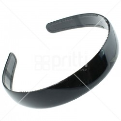 Black Plastic Wide Hairband - 10 per pack
