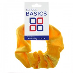 Gold Velvet Scrunchies - 10 per pack