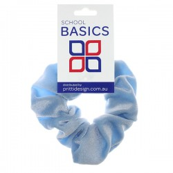 Cornflower Blue Velvet Scrunchies - 10 per pack