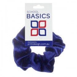 Royal Blue Velvet Scrunchies - 10 per pack