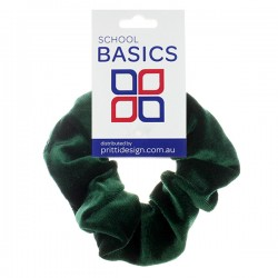 Bottle Green Velvet Scrunchies - 10 per pack