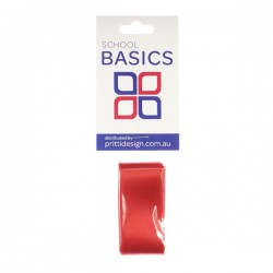 25mm Red 1m Cut Ribbon - 10 pieces per pack