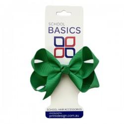 Emerald Small Shilo Bow on Elastic - 10 per pack