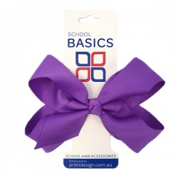 Purple Large Shilo Bow on Elastic - 10 per pack
