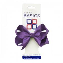 Purple Small Shilo Bow on Elastic - 10 per pack