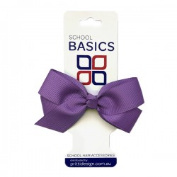 Purple Small Jani Bow on Clip - 10 per pack